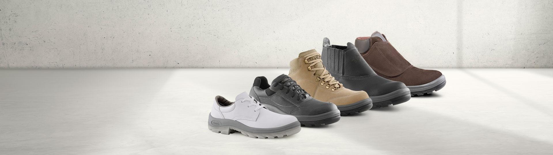 Linha de calçados Bompel segurança diferentes segmentos