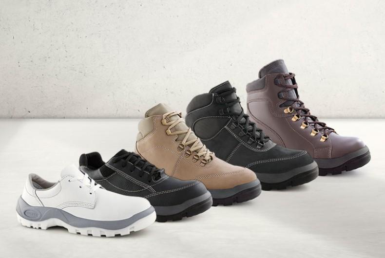 versatilidade calçados trabalho passeio resistência segurança design