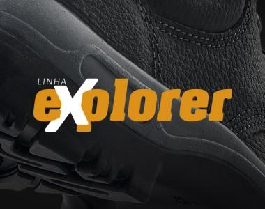 calçados linha explorer solado antiderrapante